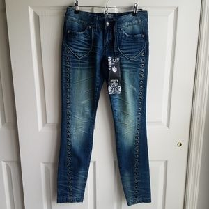 NWT Rerock For Express Grommet Skinny Jeans Size 2